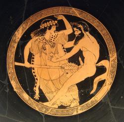 Dionysos Satyr Nymphe Phallus Thyros