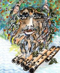 Gott Pan von Maler Helion
